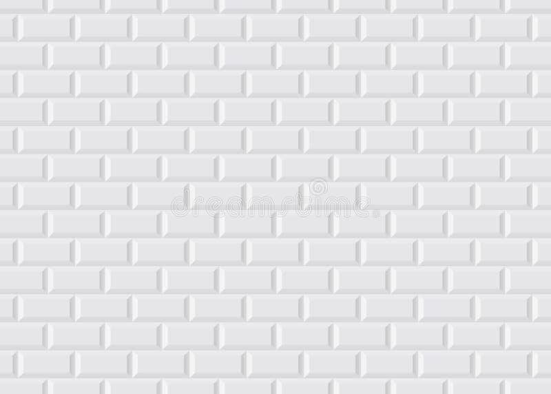 Weiße mit Ziegeln gedeckte Pariser Metro lizenzfreie abbildung