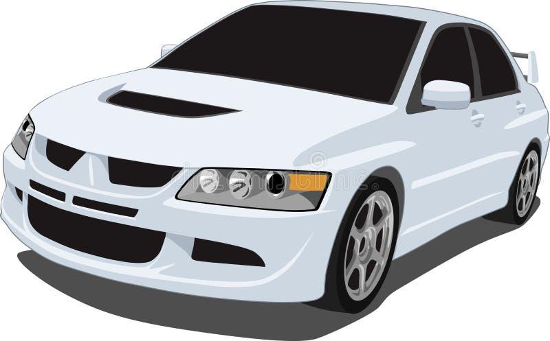 Weiße Mitsubishi-Entwicklung stock abbildung