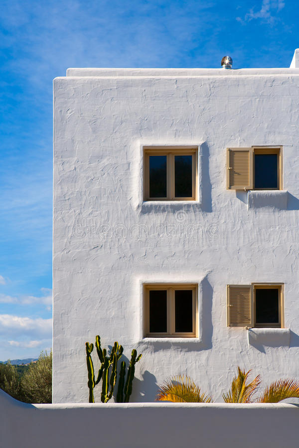 Weiße Mittelmeerhäuser in Javea Alicante lizenzfreie stockfotografie