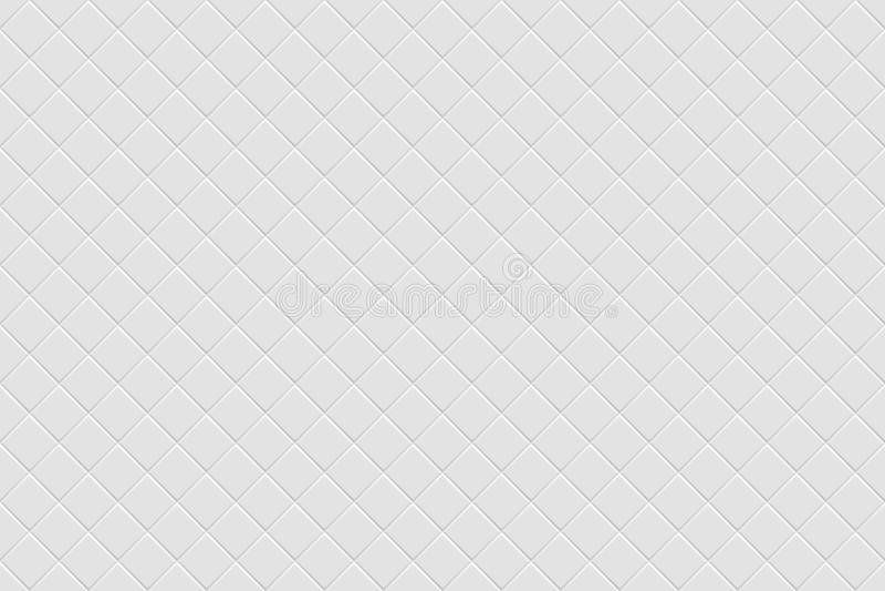 Weiße moderne abstrakte Hintergründe des Vektors Nahtlose Mosaikbeschaffenheit stock abbildung