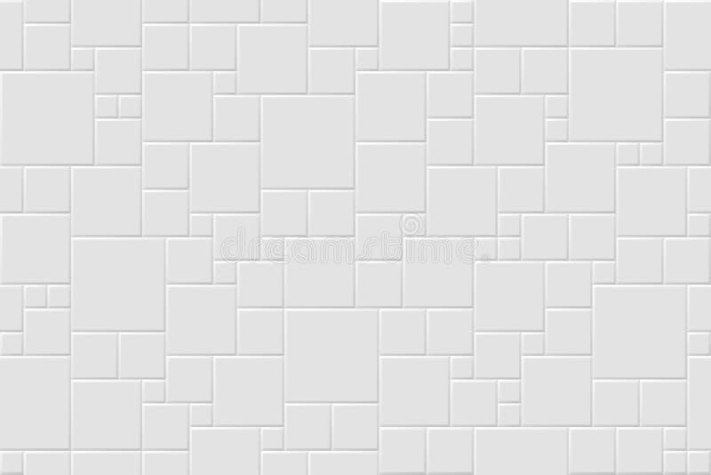 Weiße moderne abstrakte Hintergründe des Vektors Nahtlose Mosaikbeschaffenheit vektor abbildung