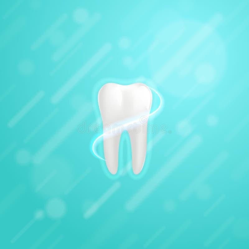 Weiße molare Zahnplakatschablone stock abbildung