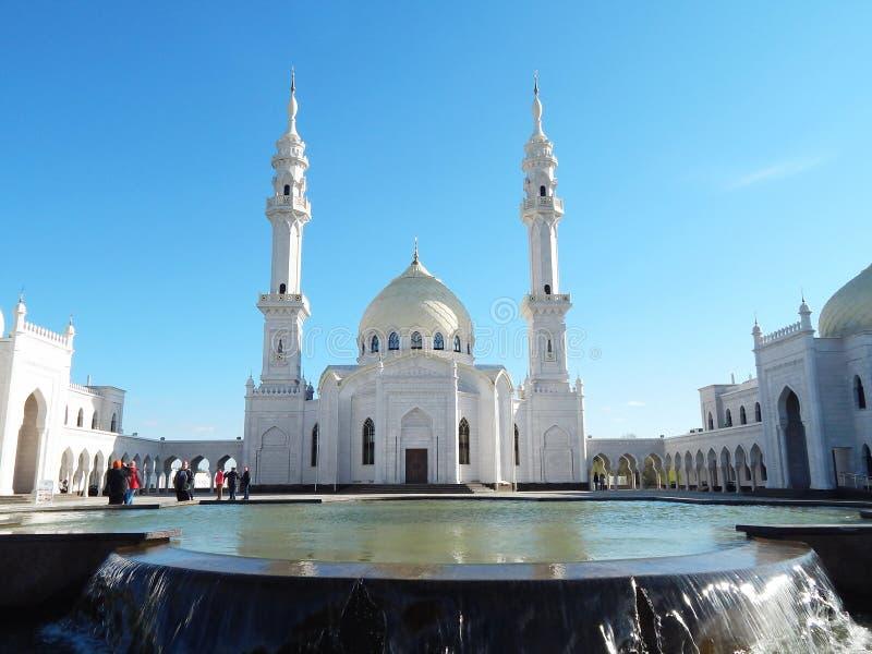 Weiße Moschee in Bolgar in Tatarstan, Russland lizenzfreie stockbilder