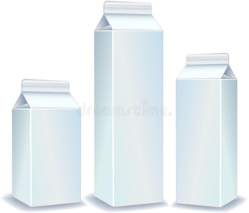 Weiße Pakete stock abbildung