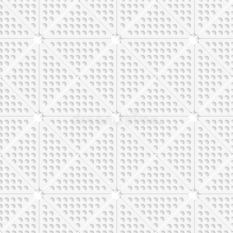 Weiße perforierte Dreieckfliesenverzierung stock abbildung