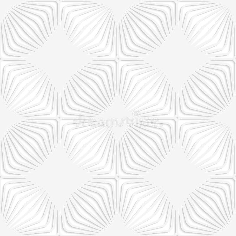 Weiße perforierte Papierstreifen, die Quadrate bilden lizenzfreie abbildung