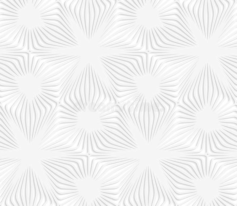 Weiße perforierte Papierstreifen, die Sterne bilden stock abbildung