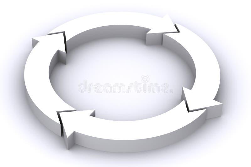 Weiße Pfeile lizenzfreie abbildung