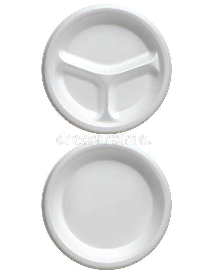 Weiße Plastikwegwerfplatte, vektor abbildung