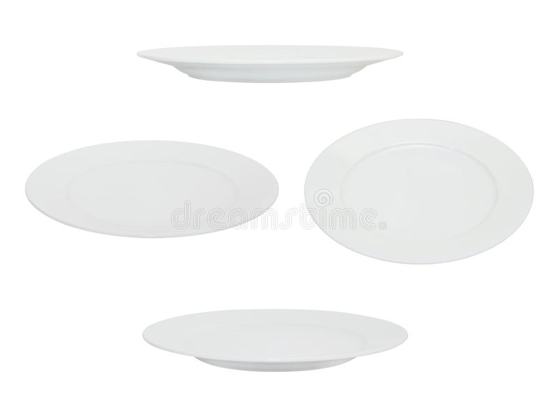 Weiße Platte stockfotografie