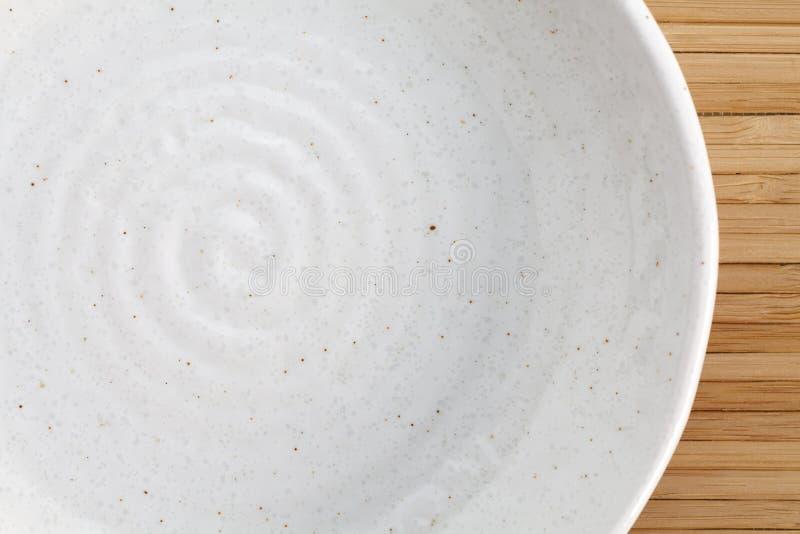 Weiße Platte leer lizenzfreies stockbild