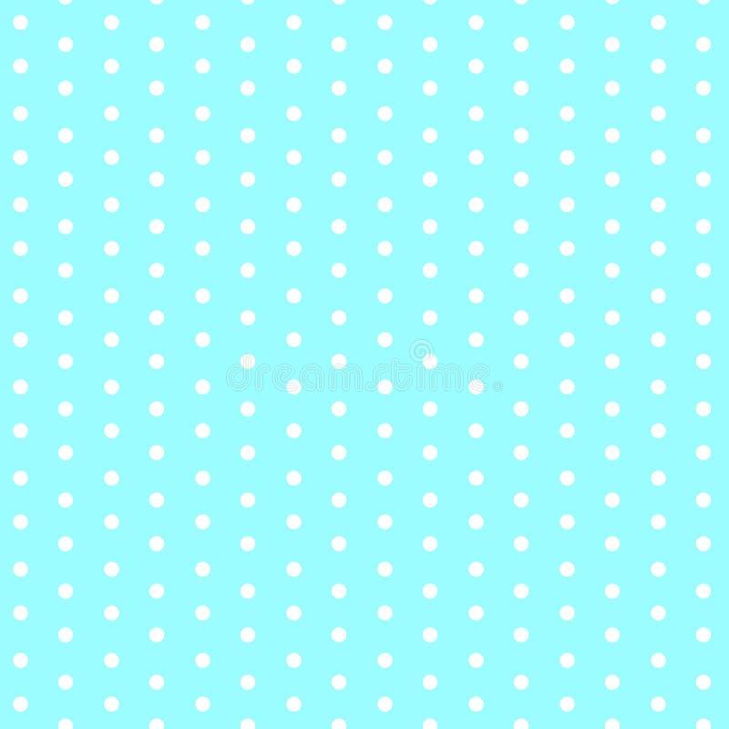 Weiße Punkte auf nahtlosem Muster des blauen Hintergrundes stock abbildung