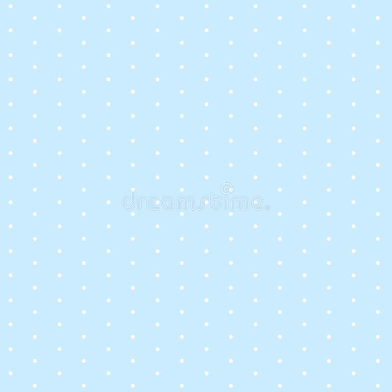 Weiße Punkte auf nahtlosem Muster des hellblauen Hintergrundes lizenzfreie abbildung