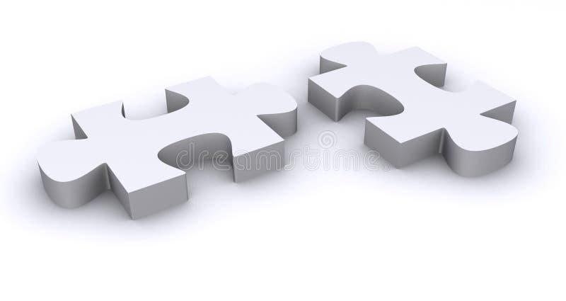 Weiße Puzzlespielstücke lizenzfreie abbildung