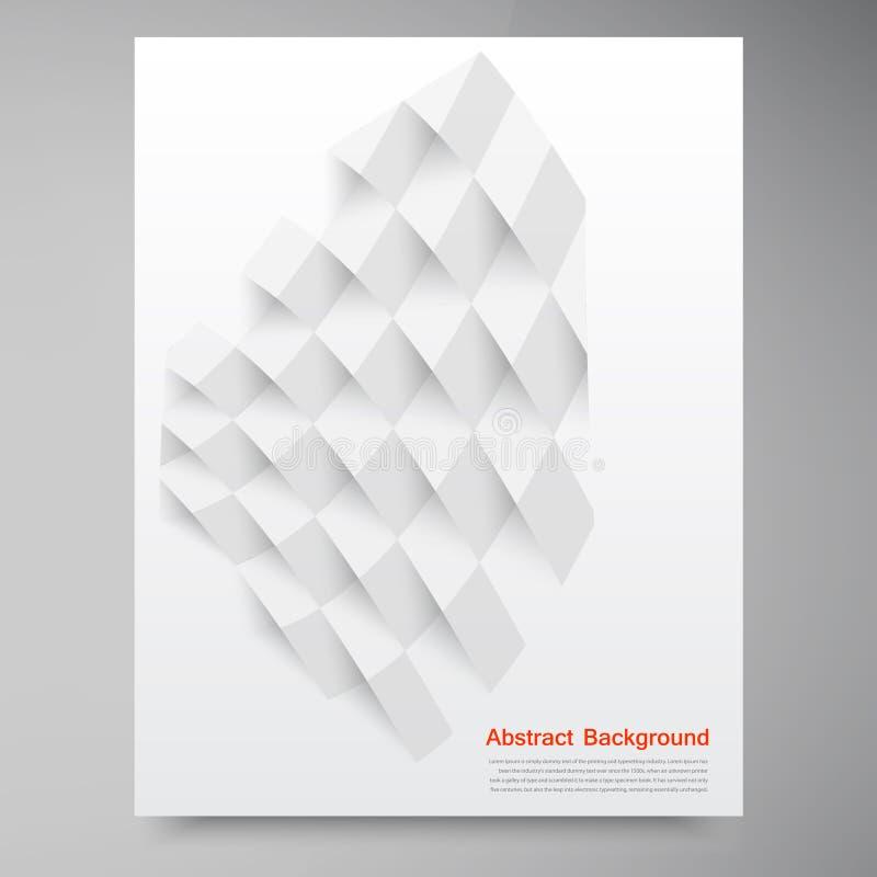 Weiße Quadrate des Vektors. Abstraktes backround lizenzfreie abbildung