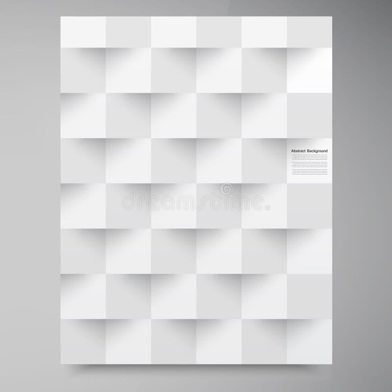 Weiße Quadrate des Vektors. Abstraktes backround stockbilder