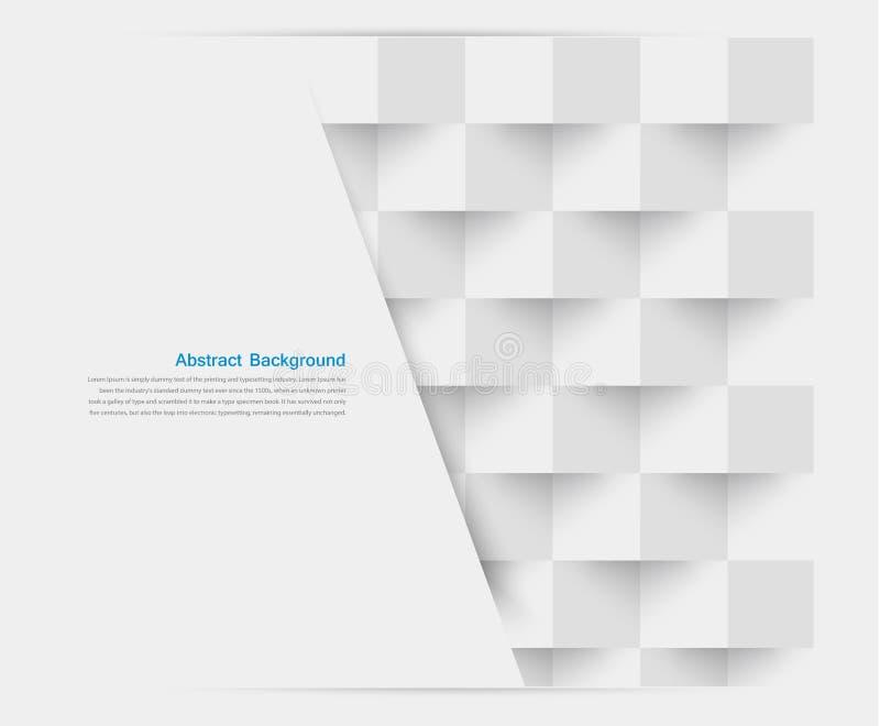 Weiße Quadrate des Vektors. Abstraktes backround stock abbildung