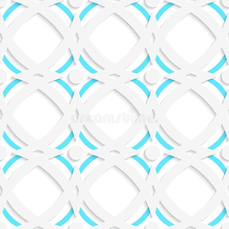 Weiße Rauten und blaue Verzierung stock abbildung