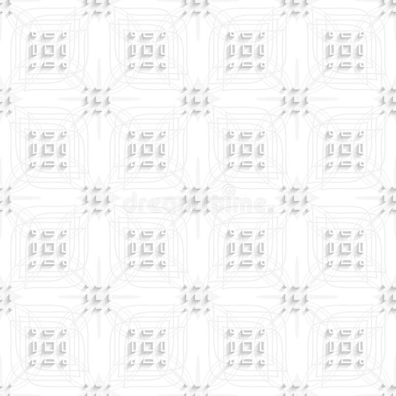 Weiße Rechteckgruppen auf der grauen Verzierung nahtlos stock abbildung