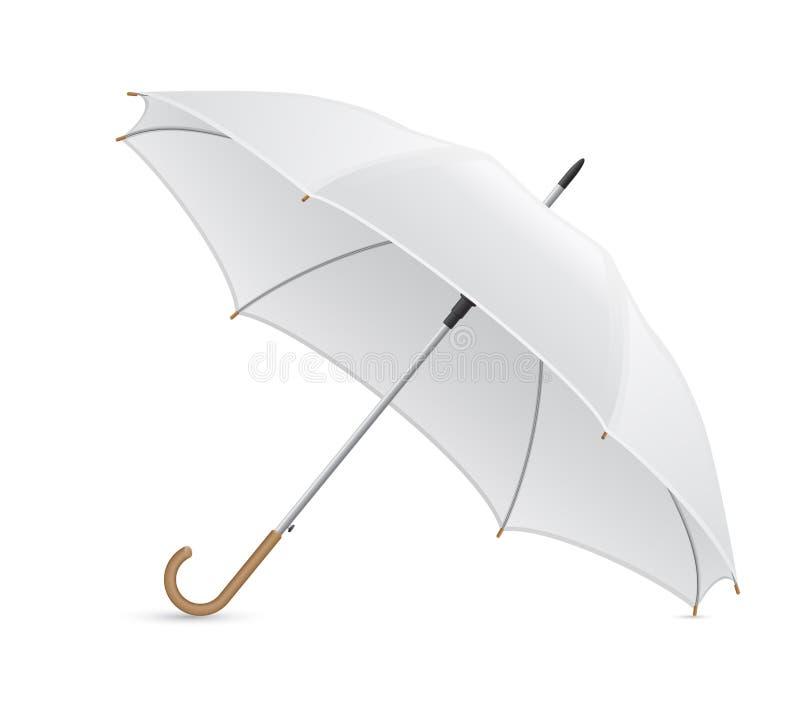 Weiße Regenschirmvektorillustration lizenzfreie abbildung