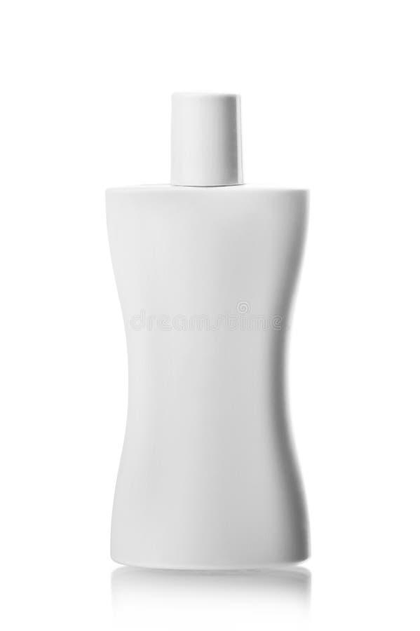 Weiße Rohrflasche Shampoo, Conditioner, Haarspülen, Gel lizenzfreie stockfotografie