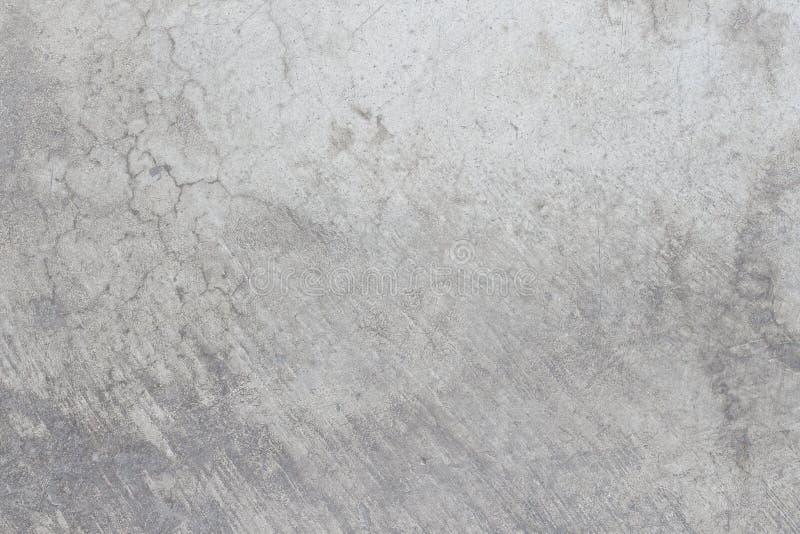Weiße schmutzige alte Zementbeschaffenheit des konkreten Bodens stockfoto