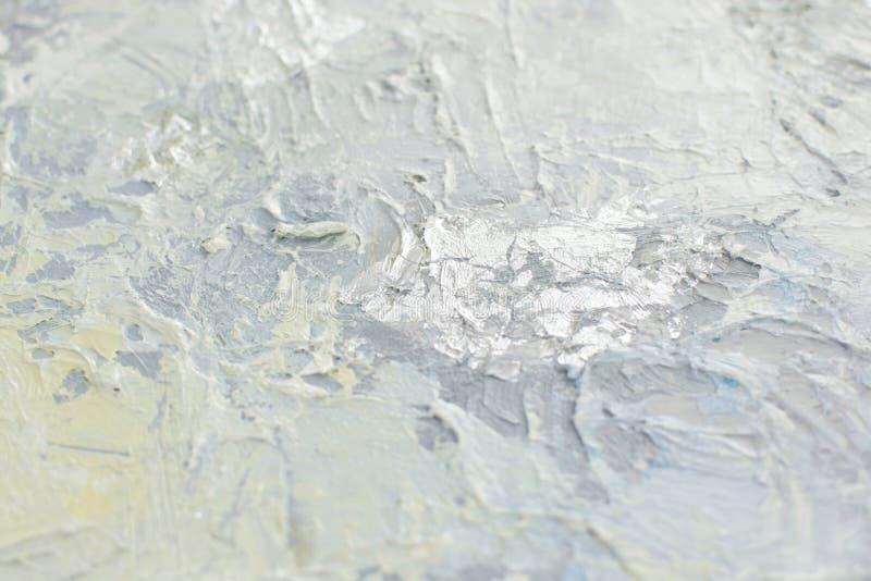Weiße Schneebeschaffenheit mit pastenartigen malenden Elementen lizenzfreie stockfotografie