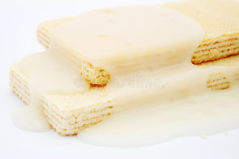 Weiße Schokoladenoblate stockbild