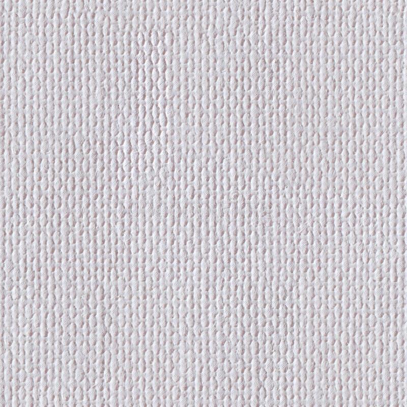 Weiße Segeltuchbeschaffenheitsnahaufnahme Nahtlose quadratische Beschaffenheit Fliese rea lizenzfreie stockfotografie