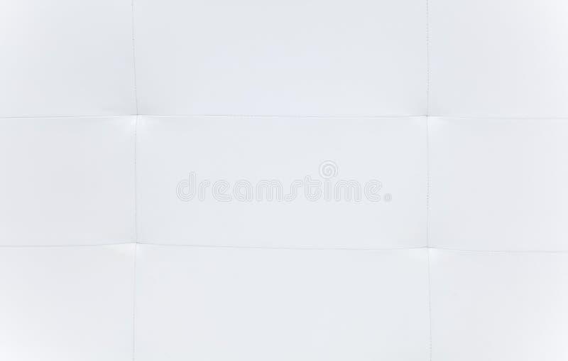 Weiße Sofalederbeschaffenheit lizenzfreies stockbild