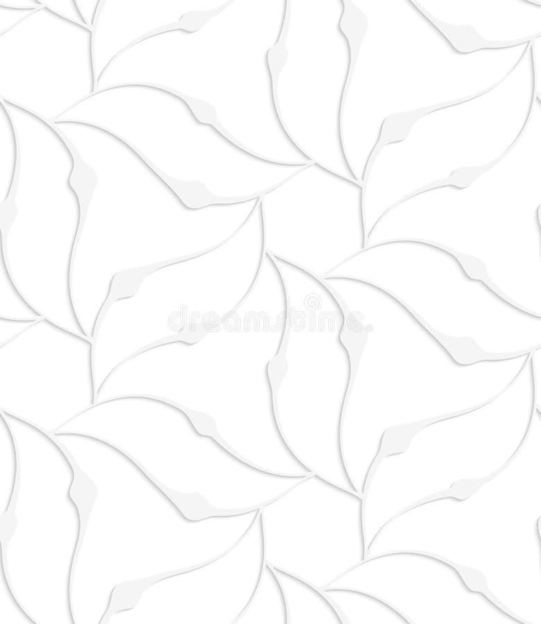 Weiße spitze Papierblätter, die Blume bilden vektor abbildung