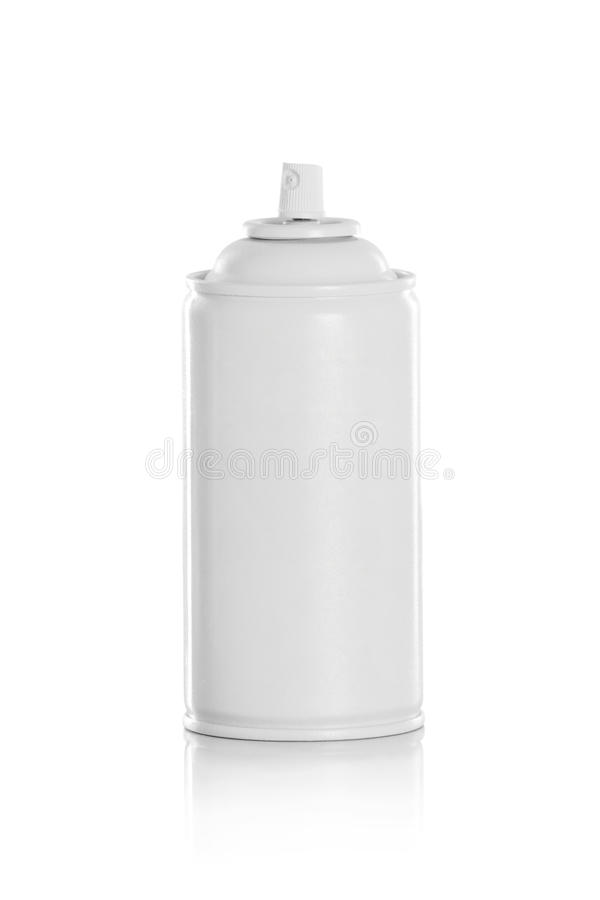 Weiße Spraydose stockfoto