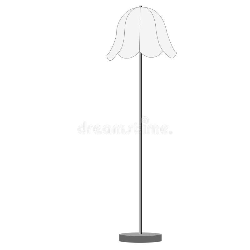 wei e stehlampe stock abbildung illustration von fu boden. Black Bedroom Furniture Sets. Home Design Ideas