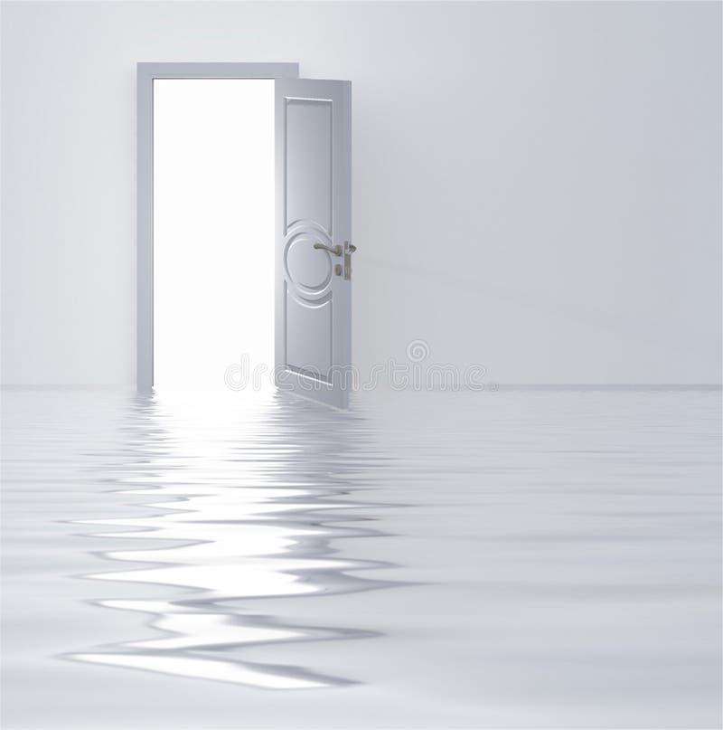 Weiße Tür stock abbildung