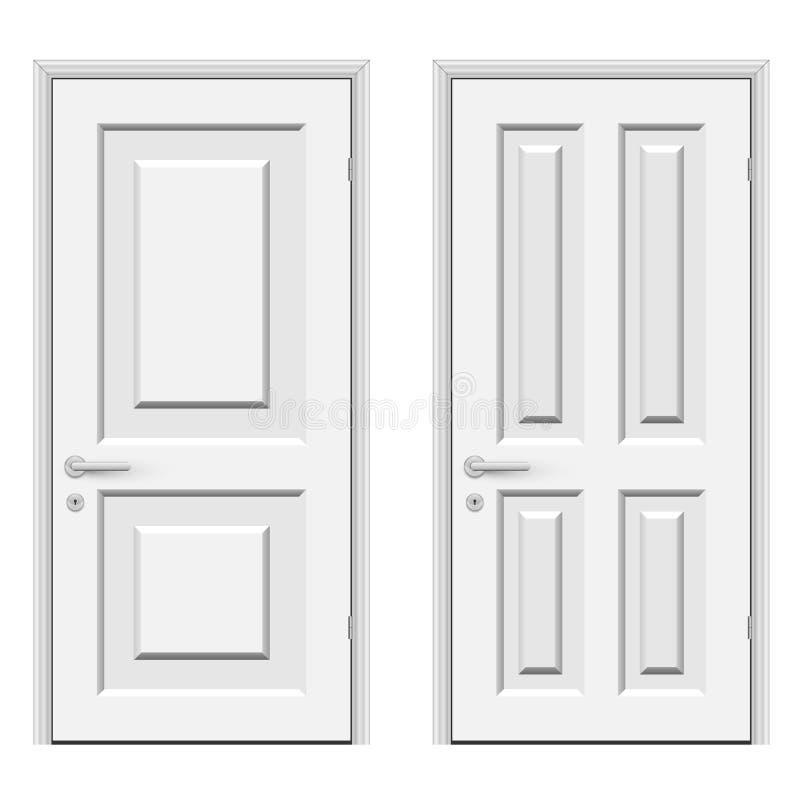 Weiße Türen vektor abbildung