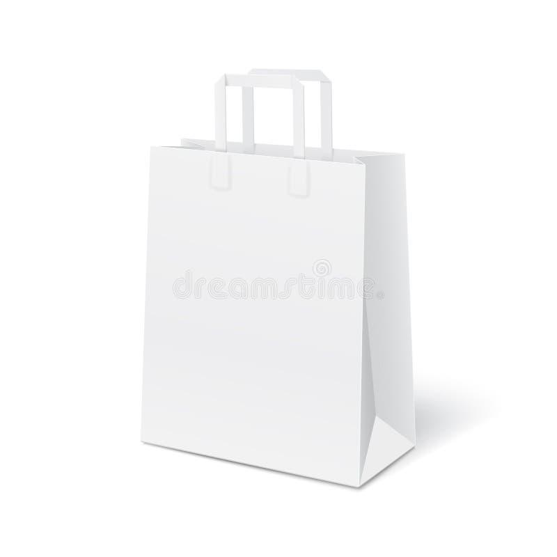 Weiße Tasche des leeren Papiers vektor abbildung