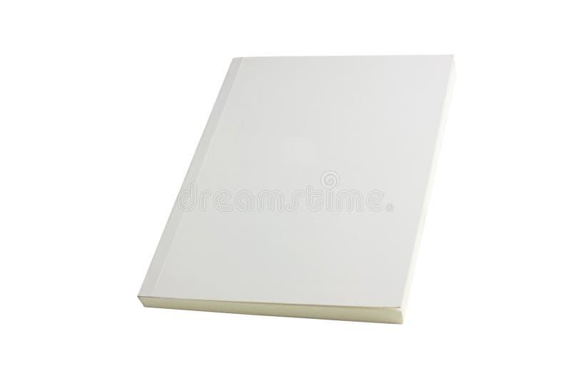 Weiße unbelegte Buchbroschüre stockfoto