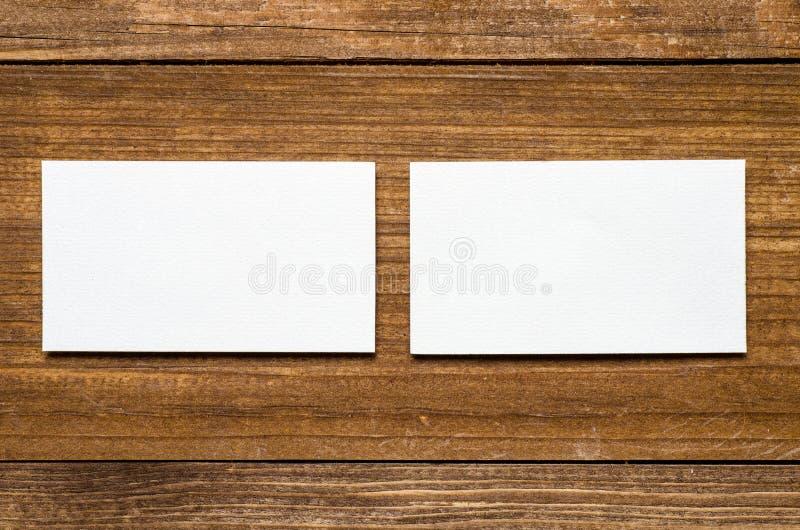 Weiße unbelegte Visitenkarte stockfoto