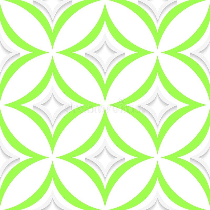 Weiße und grüne spitze Rauten nahtlos lizenzfreie abbildung