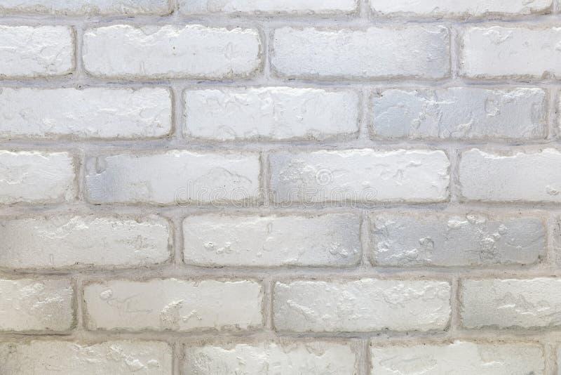 Weiße und graue Backsteinmauerbeschaffenheit stockfotos