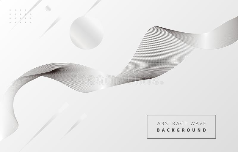 Weiße und schwarze abstrakte Welle 1 stock abbildung