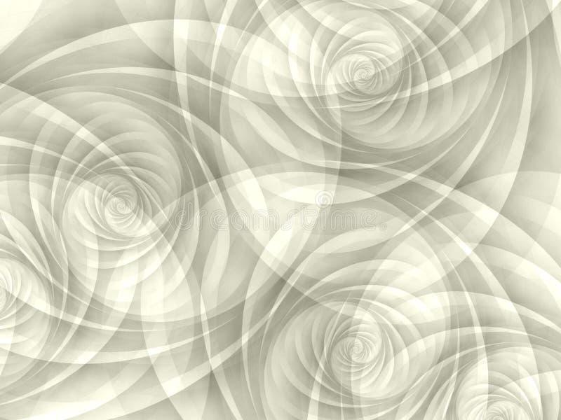 Weiße undurchlässige Strudel-Spiralen lizenzfreie abbildung