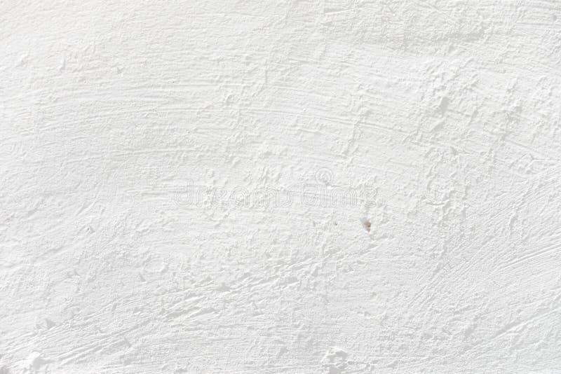 Weiße vergipste Wand