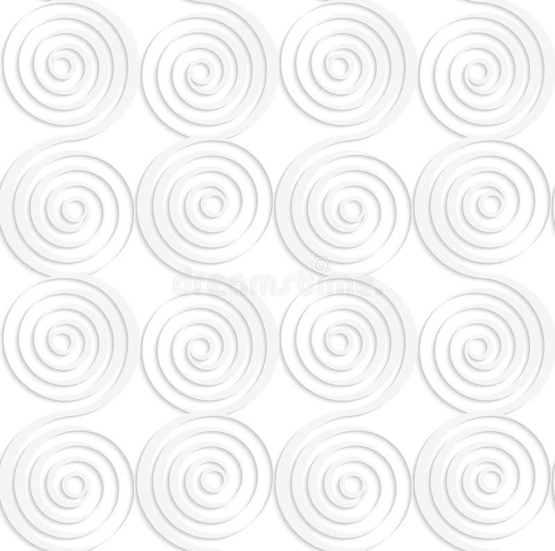 Weiße vertikale Mischenpapierspiralen stock abbildung