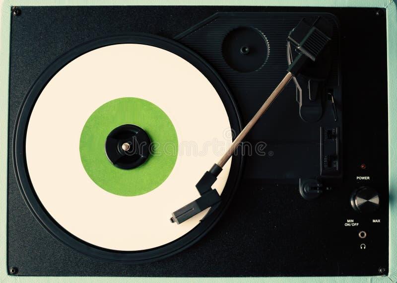 Weiße Vinylaufzeichnung stockfotos