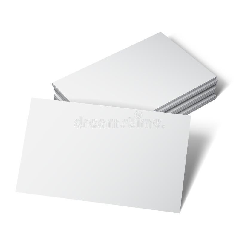 Weiße Visitenkarte lizenzfreie abbildung