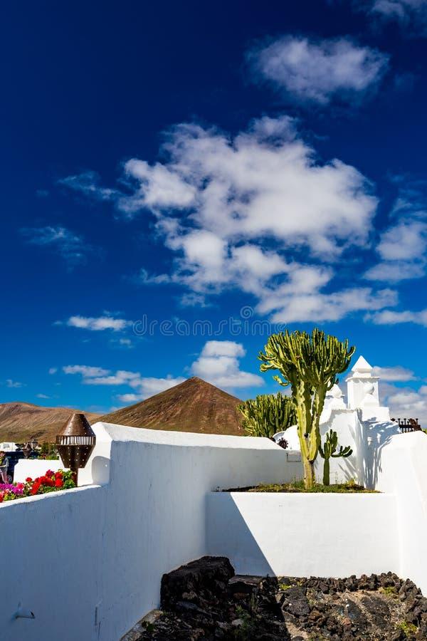 Traditionelle Architektur In Lanzarote Stockfoto