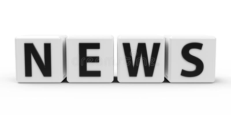 Weiße Würfel - Nachrichten vektor abbildung