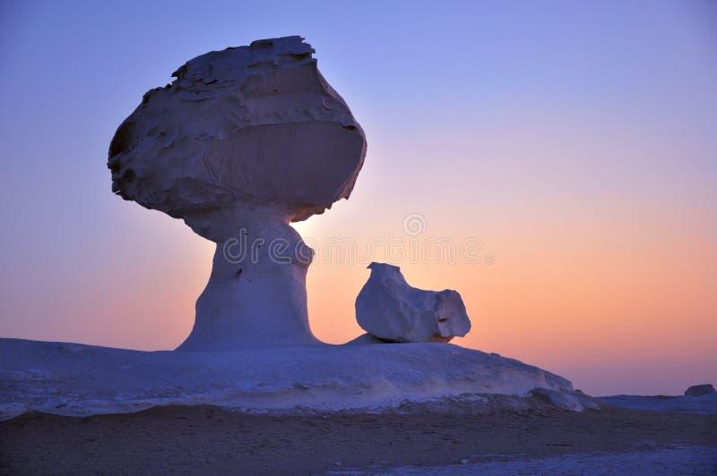 Weiße Wüste in Ägypten stockfoto