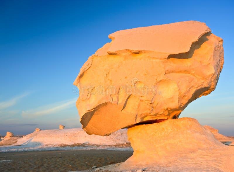 Weiße Wüste in Ägypten stockbilder